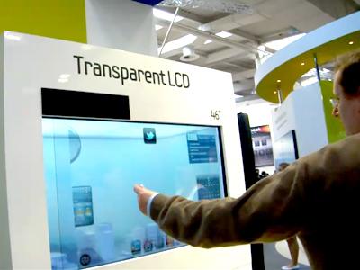 Tela LCD Samsung Transparente
